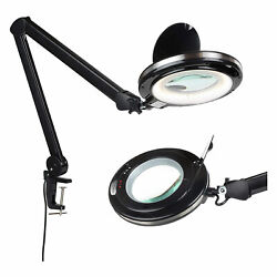 Brightech Pro LED Adjustable Clamp Dimmable Magnifier Desk Lamp Black Used