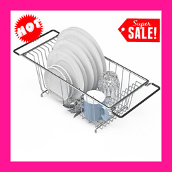 In Sink Dish Drying Rack Large Drainer Over The Kitchen For Small Spaces $31.94
