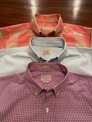Jcrew Mens Lot 3 Slim Fit Button Up Long Sleeve Shirts Small S $28.00