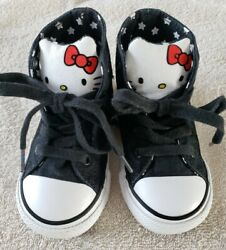 Adorable Converse All Star Toddler Girl#x27;s Size 7 Hello Kitty High Top Shoes $21.95