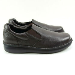 Propet Loafer Size 12 Mens Galway Brown Leather M4077 Slip On Comfort Shoes $49.00