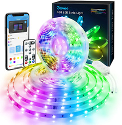 Govee 32.8ft Color Changing LED Strip Lights Bluetooth LED Lights with App Box $33.09