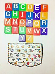 Fisher Price Play Desk Replacement 26 Textured Letters COMPLETE with 1 Card $11.99