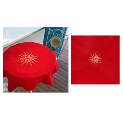 Velvet Tarot Table Cloth for Tarot Cards Playing Cards Parts Red 80x80 $20.03