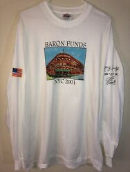 Vintage Large Baron Funds 2001 Ebbets Field Seinfeld New York T Shirt Deadstock $25.00