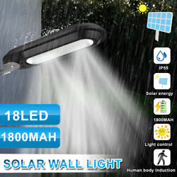 Outdoor Commercial 18 LED Solar Street Lights IP55 Waterproof Dusk to Dawn Lamp