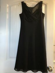 NWOT Elegant Evan Picone Black Formal Party Dress With Glitter Size 6P $22.00