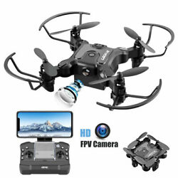 Mini Folding Drones RC Quadcopter FPV 1080P HD FPV Wide angle Camera 3D Flips $31.90