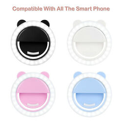 Portable Selfie LED Light Ring Fill Camera Flash Mobile Phone Universal Stand $5.90
