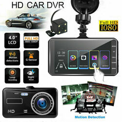 4quot; 1080P Dual Lens Touch Screen Car DVR Dash Cam Recorder Front and Rear Camera $34.99