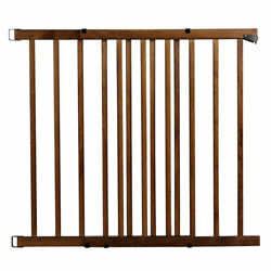 Evenflo 1051610 32quot; Top of Stairs Farmhouse Walk Thru Baby Gate Brown Open Box $37.99