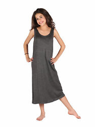Lori Jane Big Girls Charcoal Trendy Maxi Dress 6 16 $33.30