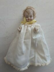 ALL BISQUE BABY DOLL REPRODUCTION ANTIQUE NIGHT GOWN 5quot; SHACKMAN JOINTED $19.99