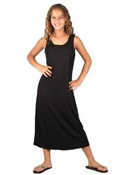 Lori amp; Jane Big Girls Black Sleeveless Trendy Maxi Dress 6 14 $31.45