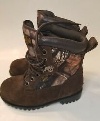 Red Head Brand Co Thinsulate Waterproof Boys Camo Hunting Boots Youth Size 1 M $37.99