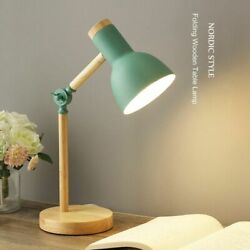 Wooden Lamps LED Desk Light Bulb Included Durable Simple Indoor Home Decorations $53.99