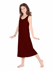 Lori Jane Big Girls Wine Trendy Maxi Dress 6 16 $33.30