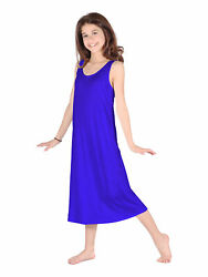 Lori Jane Big Girls Royal Blue Trendy Maxi Dress 6 16 $33.30