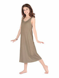 Lori Jane Big Girls Taupe Trendy Maxi Dress 6 16 $33.30