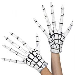 Grim Reaper Skeleton Gloves Costume Accessory Adult Halloween $19.79