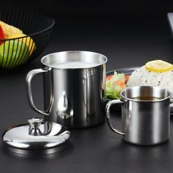 Water Stainless steel Cup Milk Coffee Home Outdoor Tumbler With Handle C $14.50