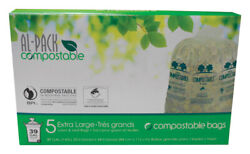 Al Pack Compostable Lawn and Leaf 39 gal. Compost Bags Flat Top 5 pk $12.19