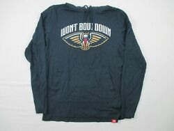 New Orleans Pelicans Sportiqe Long Sleeve Shirt Men#x27;s Navy Used