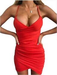 just quella Women Sexy Bodycon Party Dresses Backless Red6 Size Large 2gji $9.99
