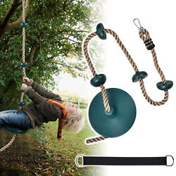 Disc Tree Swing Climbing Rope with Platform for Kids Outdoor Playground Backyard $33.90