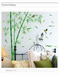 Bamboo Wall Stickers Mural Art 3D Decals Wallpaper Decor Living Room Study Room $21.90