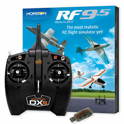 RealFlight 9.5 RC Helicopter Flight Simulator Combo with Spektrum DXS and WS2000 $199.99