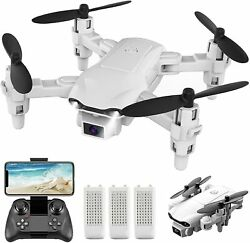 2021 New RC Drone 4k HD Wide Angle Camera WIFI FPV Drone Dual Camera Quadcopter $33.99