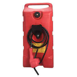 14 Gallon Fuel Transfer Gas Caddy Tank Pump Container Portable Rolling Wheel Red $139.99
