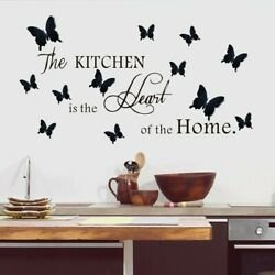 Kitchen Wall Stickers Three dimensional Butterfly Background Decorative Stickers C $13.02