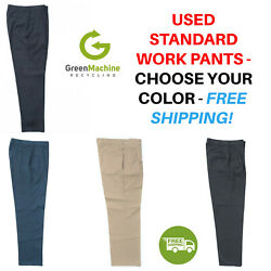 Used Uniform Work Pants Cintas Redkap Unifirst Gamp;K Dickies etc FREE SHIP $13.99