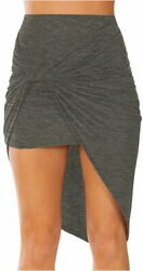 Sexy Mini Skirts for Women Bodycon High Waisted Boho High Charcoal Size Small $13.99