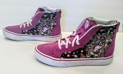 Vans Off The Wall Girls Unicorn Hightop Zip Back Shoes Size US Kids Size 3 CUTE $21.99