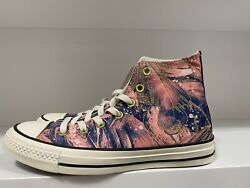 Converse All Star Womens Satin CTAS HI Size 8 Pale Coral Navy Egret 559863C $56.99