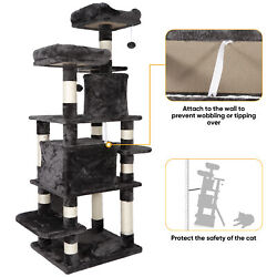 67 inches Multi Level Cat Tree for Large Cats Cat Tower Cat Condo Pet Play House $99.99