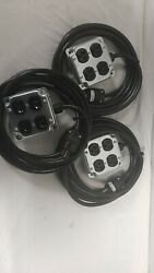3 Pack Quad Stage Power Box With 15#x27; Cable $105.00