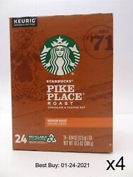 Starbucks Pike Place Medium Roast Coffee K Cup Pods 96 count 24 pack x 4 $31.95