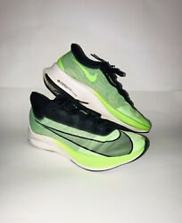 Nike Zoom Fly 3 Electric Green amp; Black Vaporweave Running Shoes Size 10.5 Mens $49.99