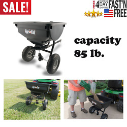 85 Lb Behind Broadcast Spreader Tow Hopper Fertilizer Seed Atv Lawn Tractor Pull $112.69