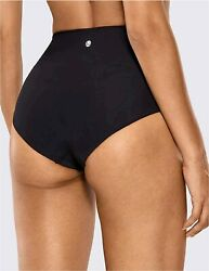CRZ YOGA Women#x27;s UPF 50 High Waisted Bikini Bottoms High Cut Black Size Small $9.99