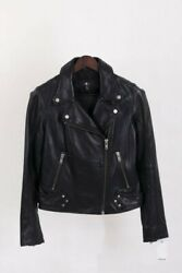 womens leather motorcycle jacket $98.00