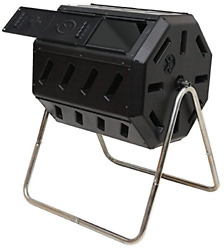 FCMP Outdoor 37 Gallon Dual Chamber Tumbling Composter Bin for Soil Open Box $109.09