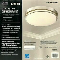 Lot Of 2 Altair Lighting LED 14 inch Flushmount Dimmable Light Fixture $85.99