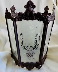 Large ANTIQUE Hanging CANDLE LANTERN Never Electrified VICTORIAN $149.99