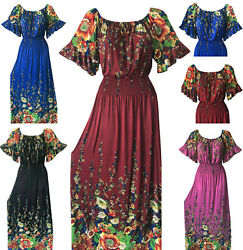 Women Summer Boho Floral Long Maxi Evening Party Cocktail Beach Dress Sundress $16.88