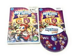 My Sims: Party for Nintendo Wii WII Action Adventure Complete with Manual CIB $4.99